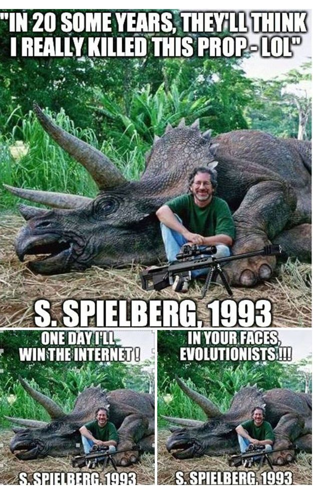 Steven Spielberg Hunts and Kills a Triceratops