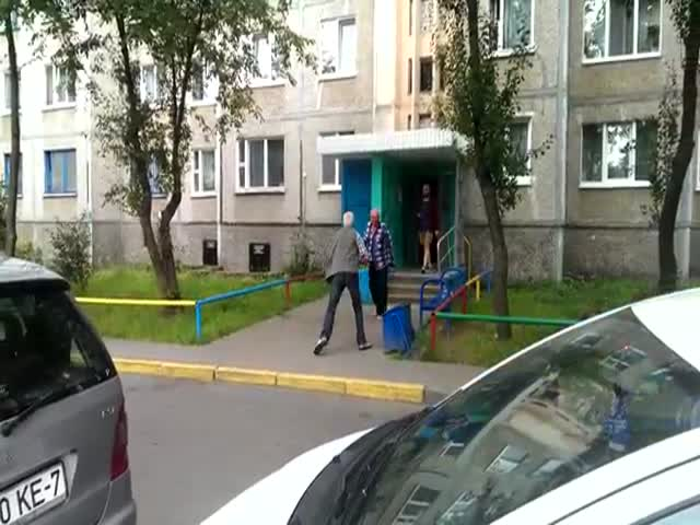 In Eastern Europe, Grandpas Street Fight Too