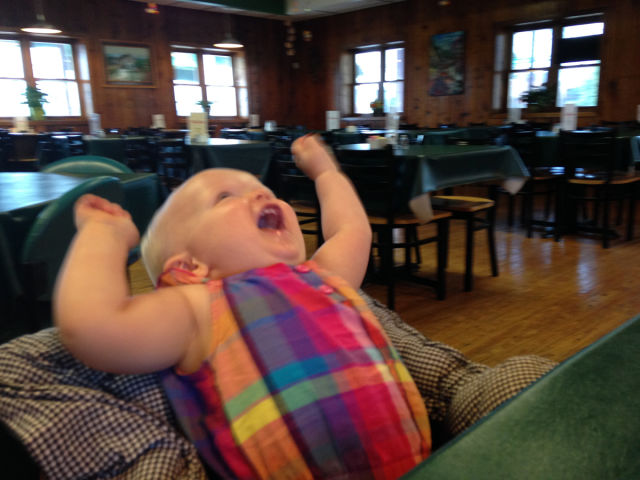 A Baby's Cute Reaction to Tasting Flan for the First Time