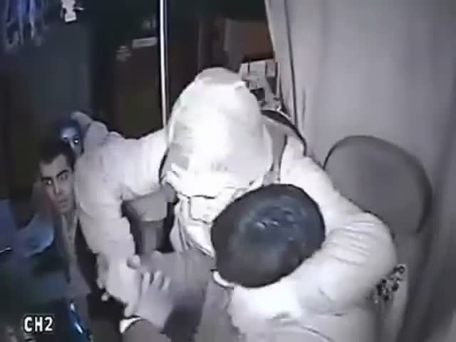Armed Guy Tries to Rob the Wrong Bus Driver