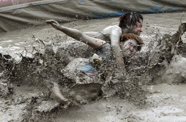 Koreans Get Covered in Dirt at the Annual Mud Festival