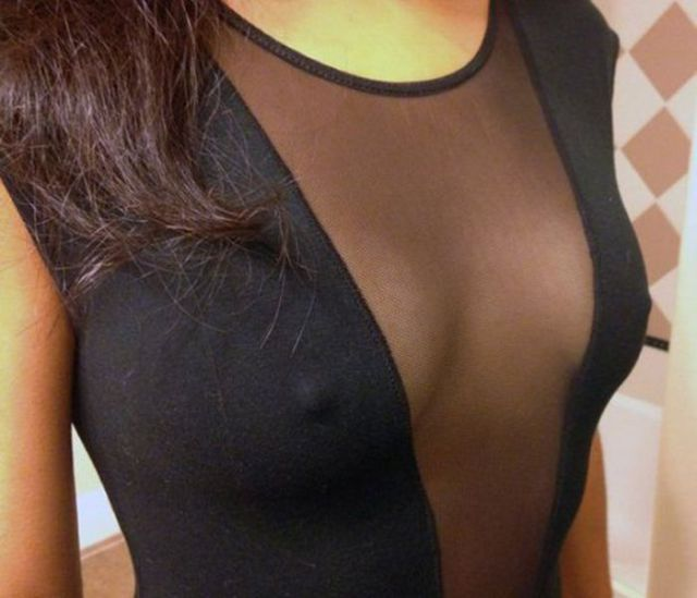 Woman Look Hot Wearing Mesh Clothing