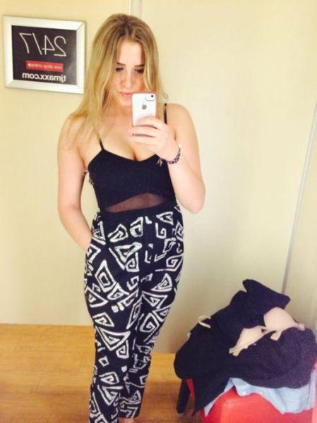 Woman Look Hot Wearing Mesh Clothing