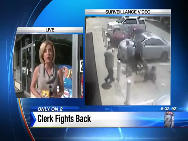 Thieves Try to Rob Man Outside Gas Station, Clerk Makes Them All Bite the Dust