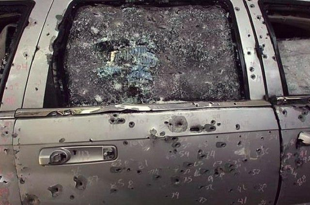 Armored Jeep Survives Hundreds of Bullets