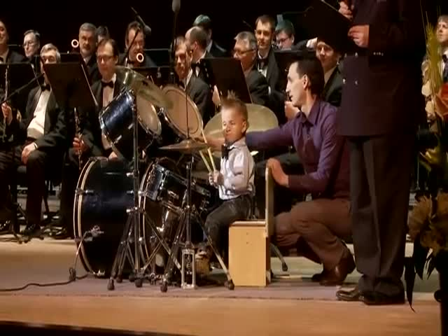 3-Year-Old Russian Drummer Plays with Philharmonic Orchestra