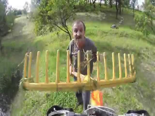 Lost Bikers vs Angry One-Armed Farmer in Poland  (VIDEO)