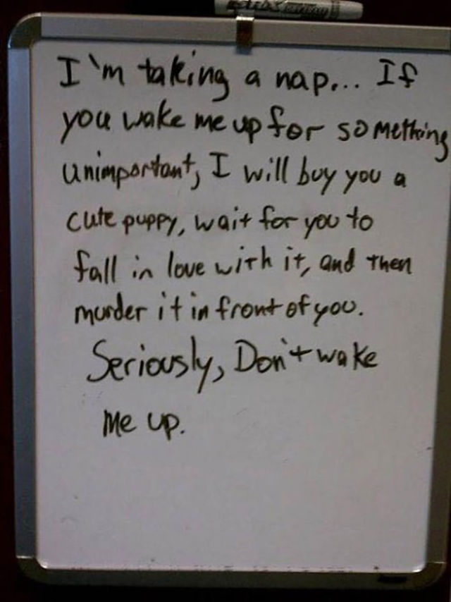 Funny College Roommate Notes