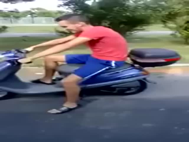 Damn, That's One Hell of a Powerful Scooter!!  (VIDEO)