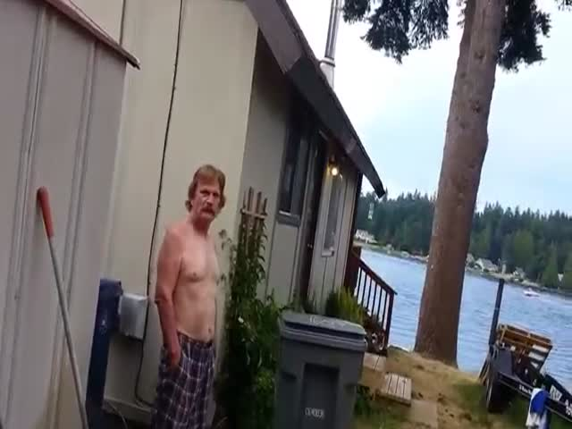 How to Get a Drunk Neighbor Out of Your Backyard  (VIDEO)