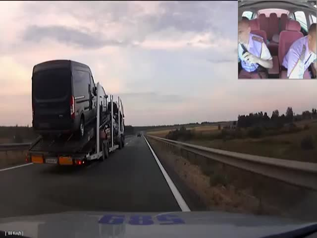 The Spectacular Police Chase of a Drunk Trucker in Belarus  (VIDEO)