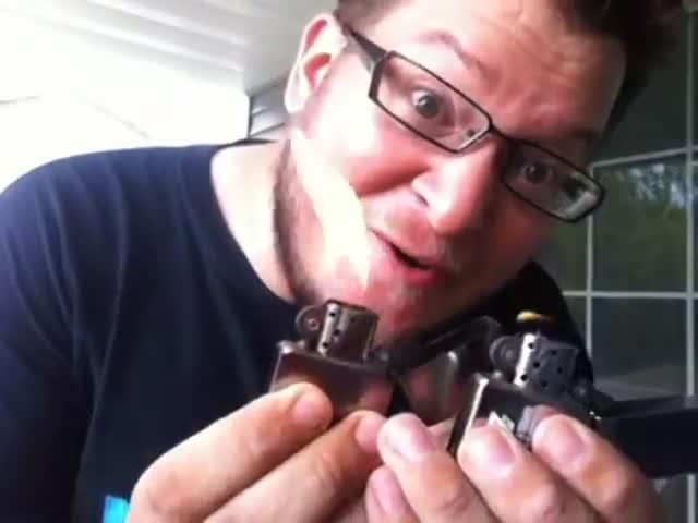 Useless Yet Awesome Zippo Lighter Tricks  (VIDEO)