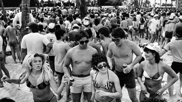 Original Photos Taken at Spring Break in the 80s