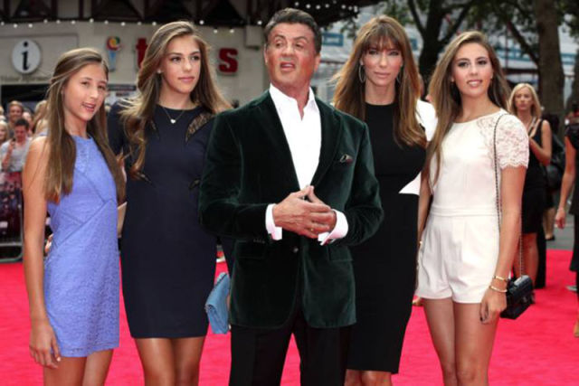 Sylvester Stallone's Family of Beautiful Girls