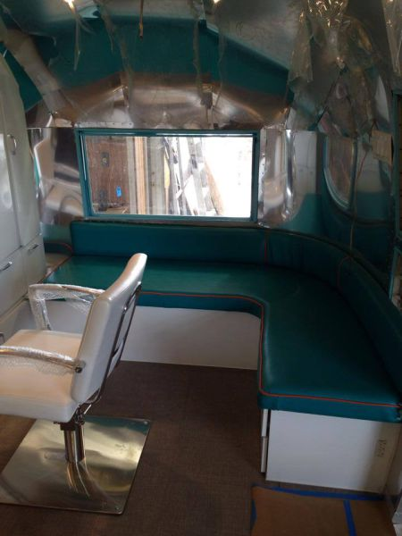 Camper Van Transformed into a Cool Retro Hair Salon