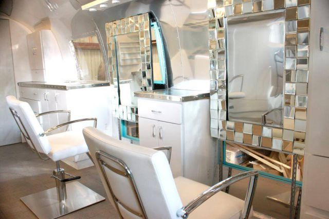 Camper Van Transformed Into A Cool Retro Hair Salon 34 Pics
