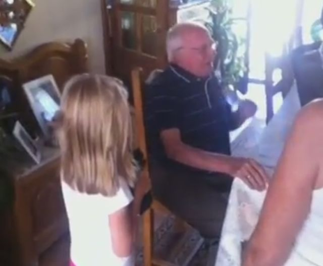 The Moving Reaction of a Grandpa Being Offered a Puppy