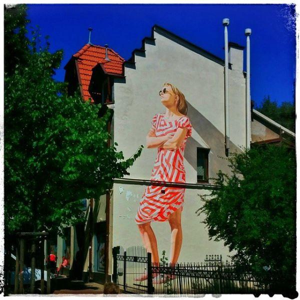 Realistic graffitti (street art)
