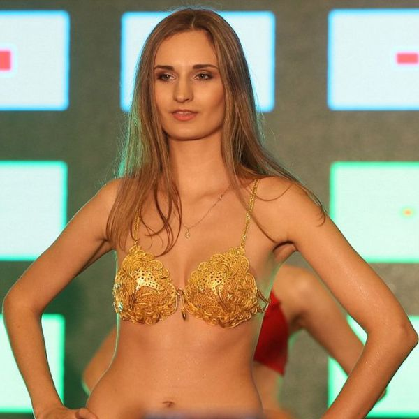 An Expensive Bikini Made of Pure Gold