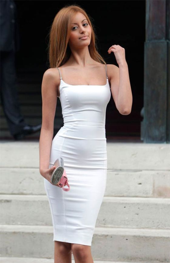 A Dress So Tight It Makes Walking Difficult