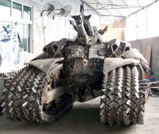 An Incredible Homebuilt Transformers Megatron Tank