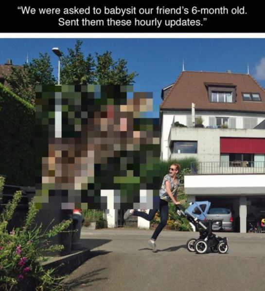 Babysitter Uses Photoshop to Create Amusing Photo Updates