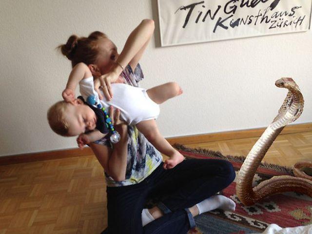 Babysitter Uses Photoshop to Create Amusing Photo Updates