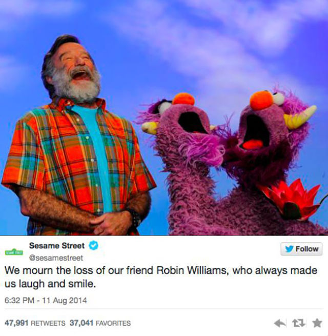In Memory of the Great Comedian Robin Williams