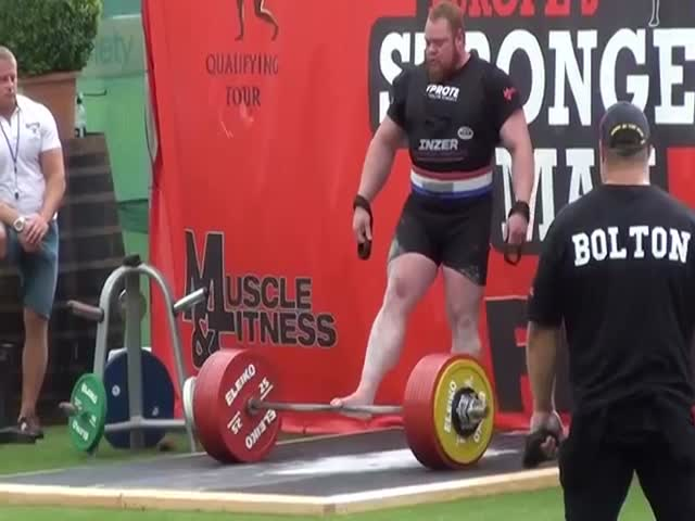 Strongman Sets World Record and Then Gives the Deepest Interview Ever  (VIDEO)