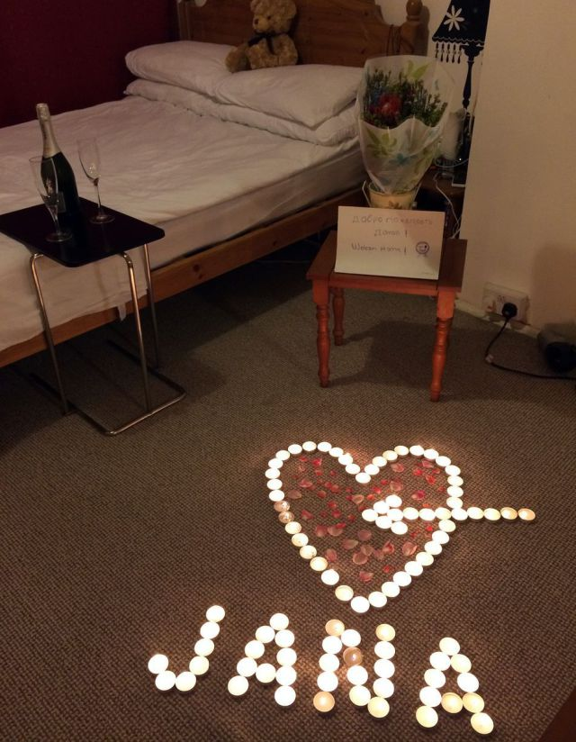 A Romantic Welcome Home Gesture That Goes Up in Flames