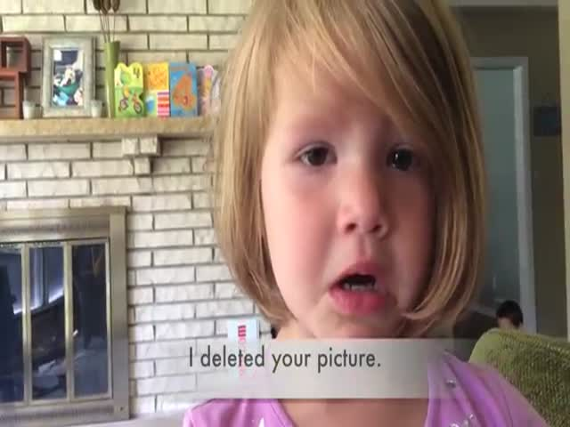 Little Girl Is Heartbroken After She Discovers She Permanently Deleted a Photo
