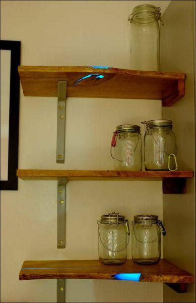 A DIY Shelf That Actually Glows