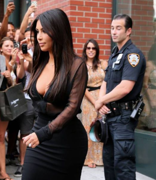 Kim Kardashian Has Some Eye-popping Cleavage Action
