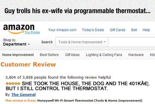 A Man's Devious Troll on His Ex-wife's House