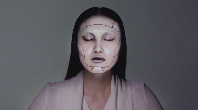Electronic Makeup with Real Time Face Tracking and Projection Mapping