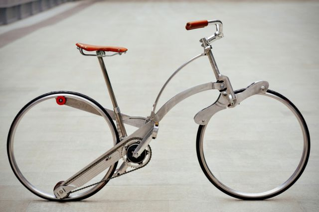 The Innovative Sada Bike Folds Up Like an Umbrella