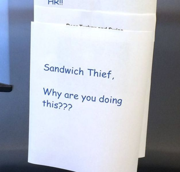 A Funny Office Fight over a Turkey Sandwich
