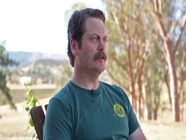 Nick Offerman's Genius Shower Thoughts  (VIDEO)