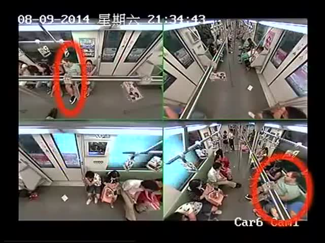 The Surprising Reaction of People to a Passenger Fainting in a Train  (VIDEO)