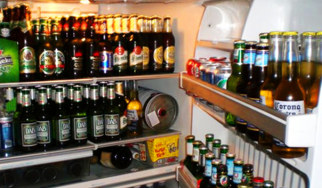 What a Full College Dorm Fridge Would Look Like