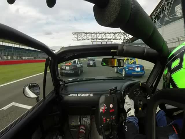 Race Car Driver Has a Little Fun At the Races