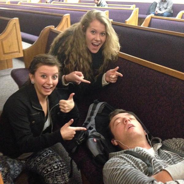 Sleeping Students Get Photoshamed at BYU