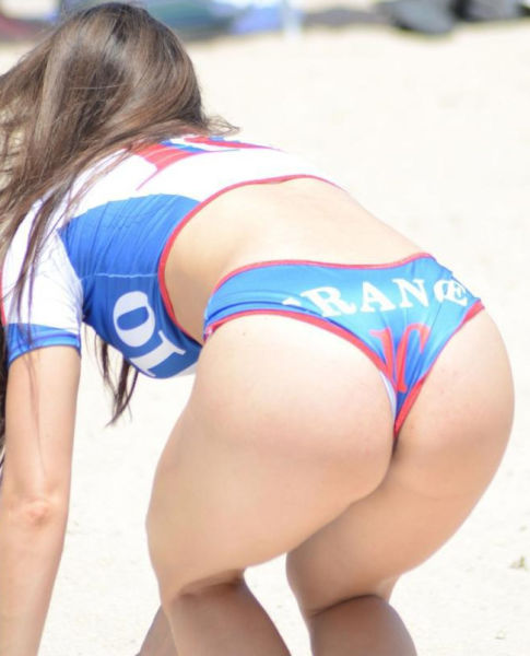 Anais Zanotti Shows Off Her Patriotic Side in Hot French Bikini