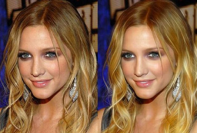 Famous People with and without Photoshop