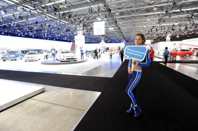 Moscow's International Automobile Salon Had Lots of Eye-candy for the Men