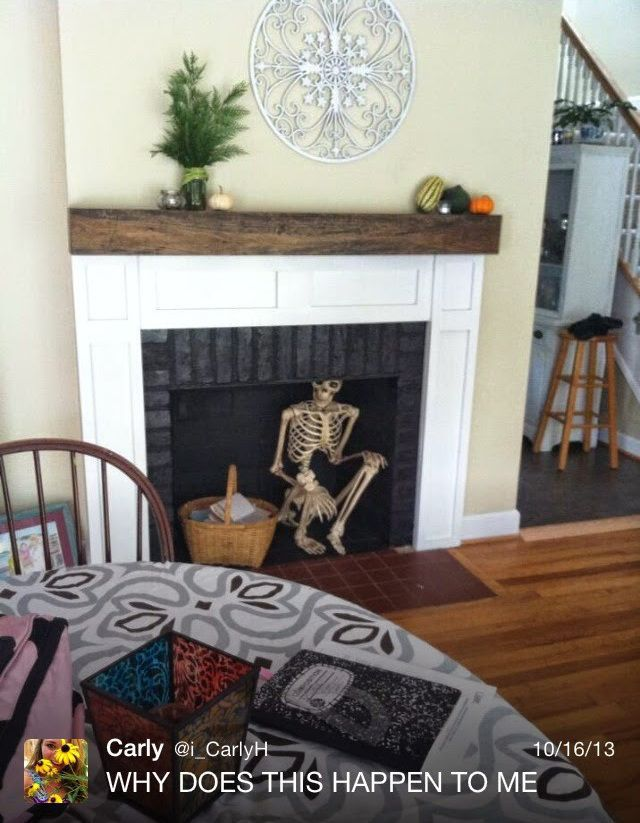 A Halloween Skeleton Is This Dad's Scary Year-Round Prank