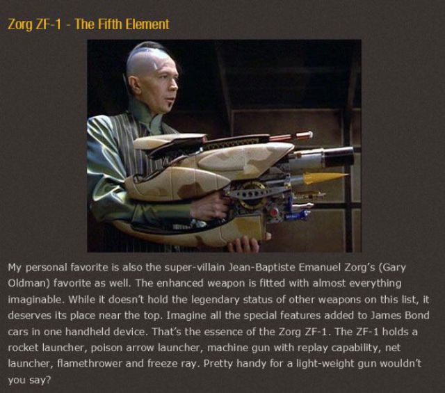 The Coolest Movie Weapons Ever Created