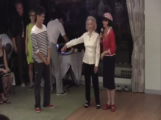 A 90 Year Old Woman Gets Her Groove On