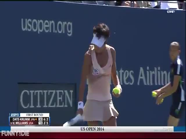 Tennis Players Get Bullied by a Bee During Match  (VIDEO)