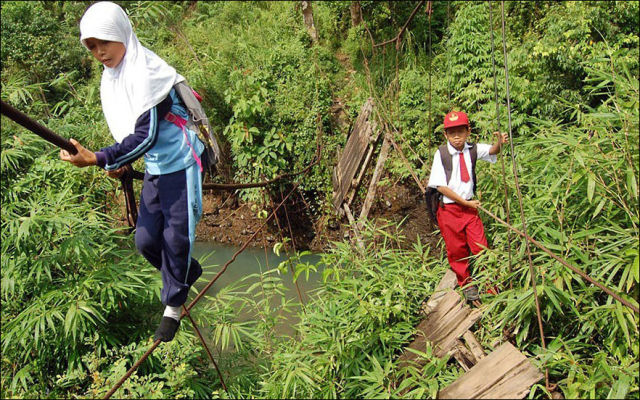 Unbelievable Real-Life Journeys of Kids Travelling to School